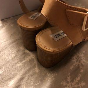 289c443c718 Steve Madden Shoes - Steve Madden Tan Devlin Block Heel Sandals